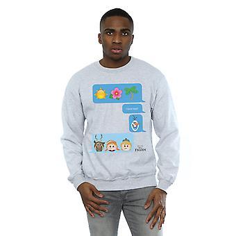 Disney Men's Frozen I Love Heat Emoji Sweatshirt