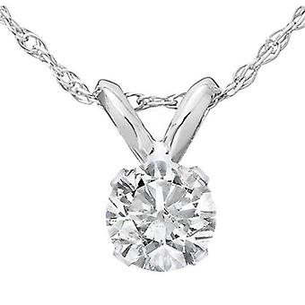 Collana a sospensione 1/2 Ct Diamond Solitaire in 14k