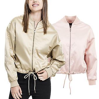 Urban klassikere damer - satin kimono jakke oversize jakke