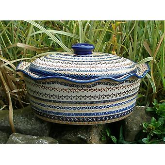 Casserole oval with cover, height 16 cm, Ø 34 x 26 cm, signature 3, BSN m 1987