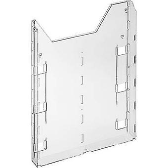 Kestävä COMBIBOXX A4-laajennus-8579 857919-esite pidike läpinäkyvä A4-numero osastojen 1 1 kpl (l x k x s) 242 x 320 x 34 mm