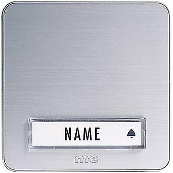 m-e modern-electronics KTA-1 A/S Bell panel incl. nameplate 1x Silver 12 V/1 A