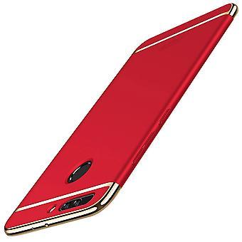 Caso di copertura del telefono cellulare per Huawei honor 9 paraurti 3 in 1 copertura cromata custodia rosso