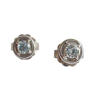 Aquamarine, aquamarine earrings ear studs earrings aquamarine 925 sterling silver