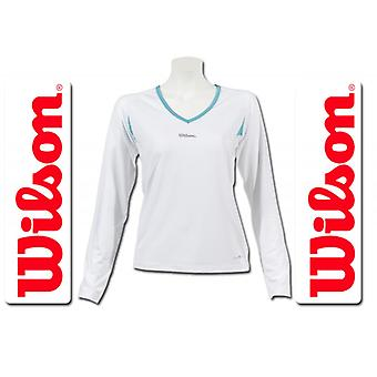 Wilson Women Performance longsleeve white / aqua