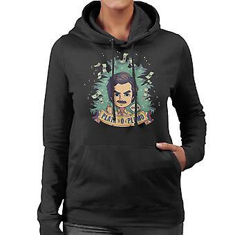 Plata O Plomo Pablo Escobar Narcos kvinder 's hætte Sweatshirt