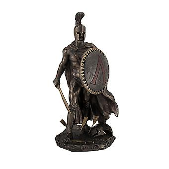 Spartan King Leonidas With Sword and Shield Bronzed Statue - 10 Inch