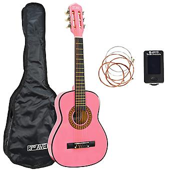 3rd Avenue 1/2 Size Classical Guitar Pack in Pink