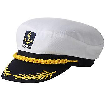 TRIXES wit en Navy nieuwigheid verstelbare Sailor Marine Captains hoed
