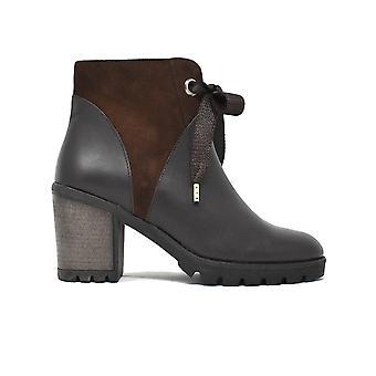 أحذية الكاحل ليبرتي كعب جلد الغزال وجلد براون 21803329-04