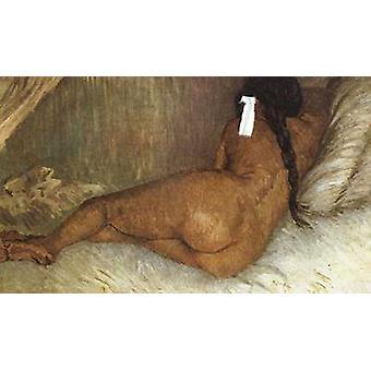 Nackte Frau Liegend, von hinten gesehen, Vincent Van Gogh, 38x61cm