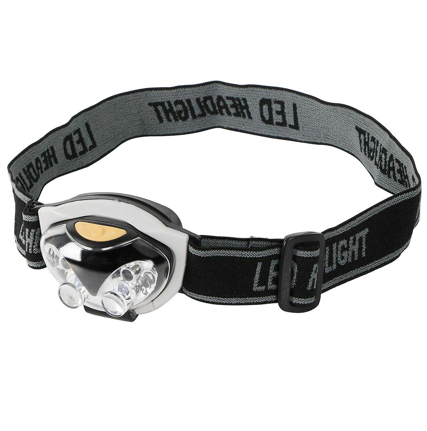 TRIXES 6 LED Adjustable Headband Light Camping Walking Hands Free Safety Torch - Perfect for Running, Cycling, Hiking, R