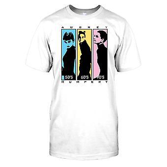 Audrey Hepburn 50s 60s 70s Mens camiseta