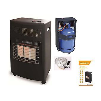 4.2kW bærbare butan gassvarmer Cyclinder med Regulator brann Camping hjem ovn