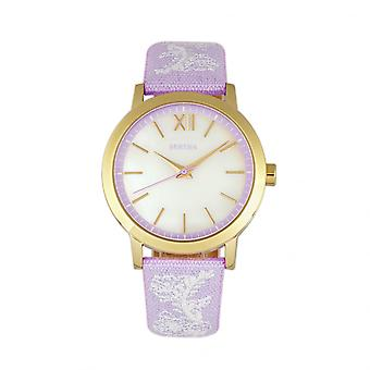 Bertha Penelope MOP cuir-Band Watch-lavande