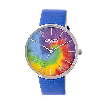 Crayo Swirl Unisex horloge-zilver/blauw