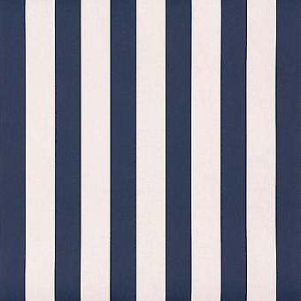 Strepen behang van tienerkinderen slaapkamer wit blauw Rasch