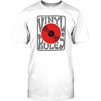 Vinyl regler - Cool DJ Design Kids T Shirt