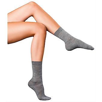 Falke mejores No3 Merino y seda calcetines - luz gris Melange