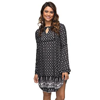 Roxy Womens Brilliant Sky Peasant Dress - Anthracite South Border