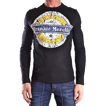 Frankie Morello Ezbc167045 Men-apos;s Black Cotton Sweater