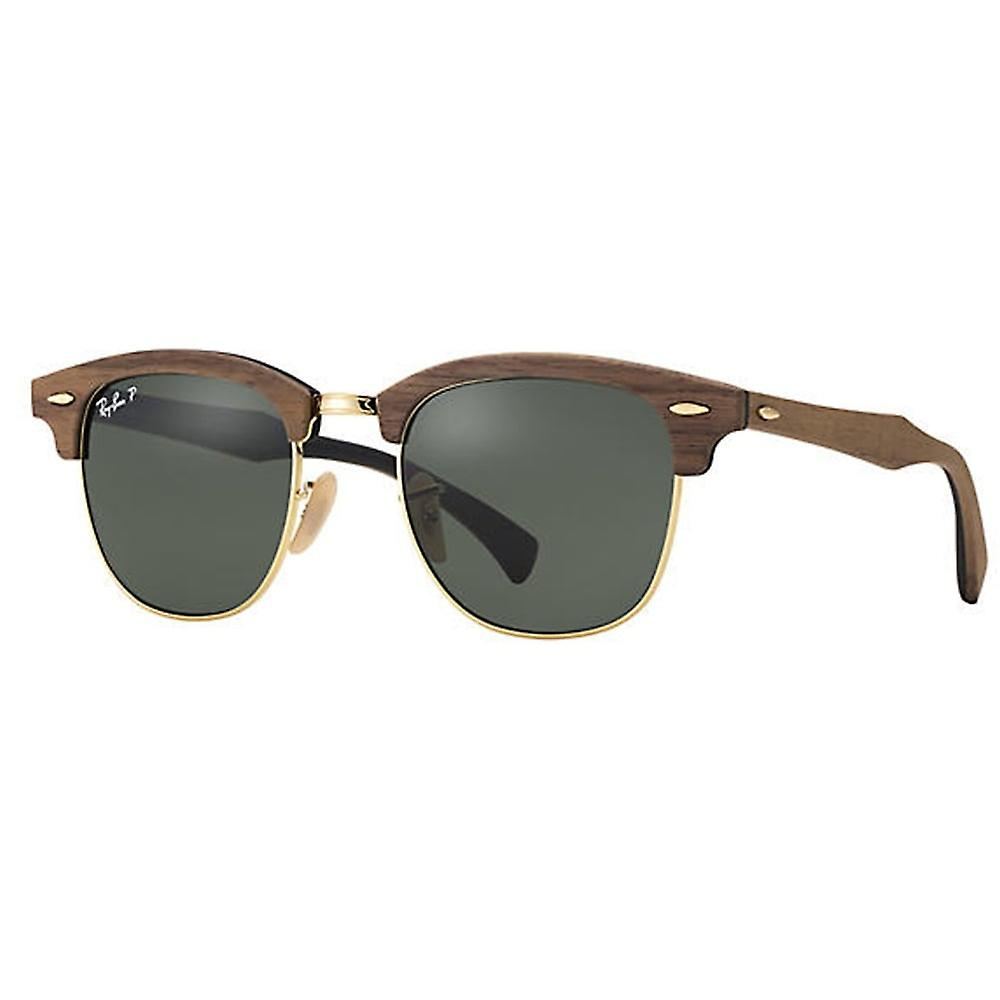 Ray Ban Sunglasses Rb3016m 118/158 51 Clubmaster Wood Brown And Green Polarized Men's Sunglasses