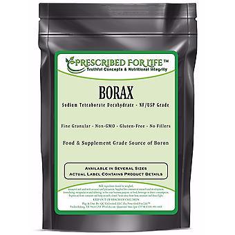 Borax - Pure USP-NF Grade Sodium Borate 10 mol Mineral Fine Powder 70-200 Mesh