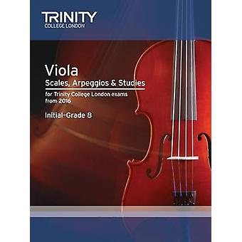 Viola Scales - Exercises & Studies Initial-Grade 8 from 2016 by Trini