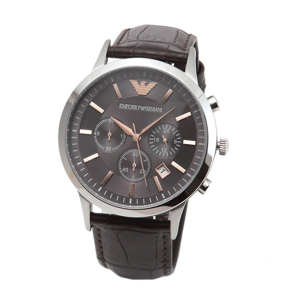 Emporio Armani Ar2513 Dress Brown Leather Men's Watch
