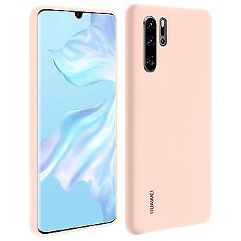 Huawei P30 Pro case soft-touch semi-stiv silikone Huawei sag-pink