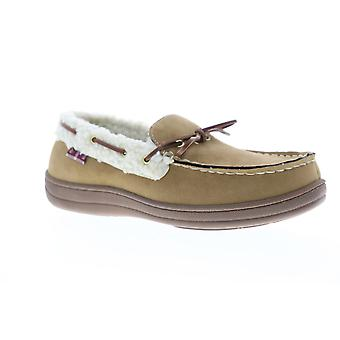 Ben Sherman Milton Faux Shearling Moccasin Mens Brown Loafers Slippers Shoes