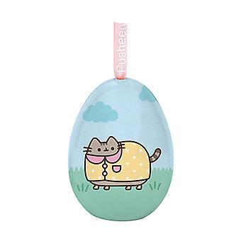 Pusheen Tin Egg Ornament