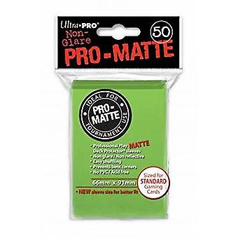 Ultra Pro SLEEVES Pro-Matte d12 Card Game - Lime Green