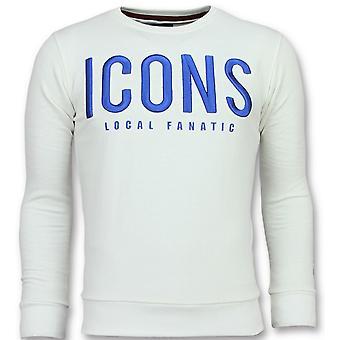 ICONS - Süßer Pullover - 6349W - Weiß