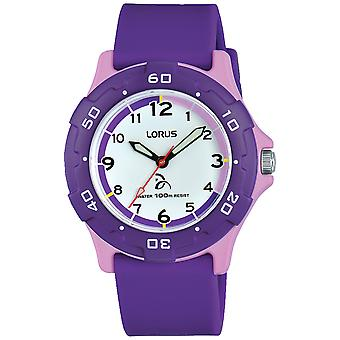 Lorus enfants Quartz Analog Child Watch avec bracelet en silicone RRX19GX9