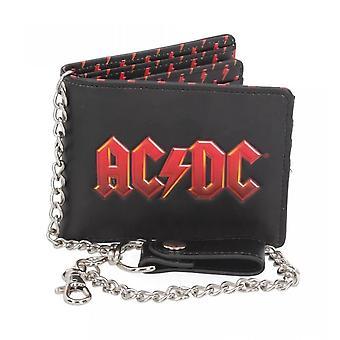 Carteira bi-fold logo AC/DC com corrente