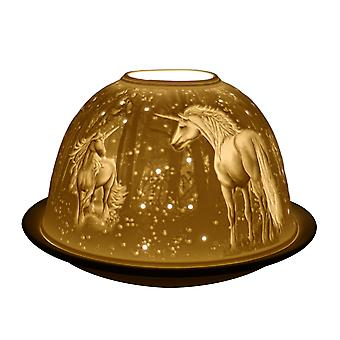 Light Glow Dome Tealight Holder, Unicorn