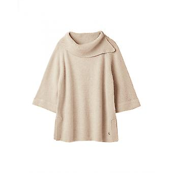 Joules Sarah Womens Knitted Poncho - Oat