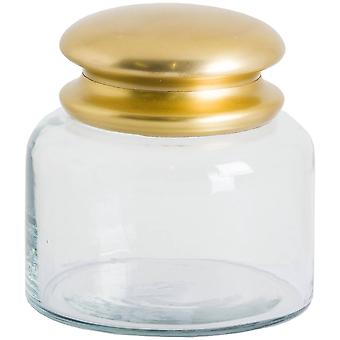 Hill Interiors Glass Storage Pot With Brass Lid