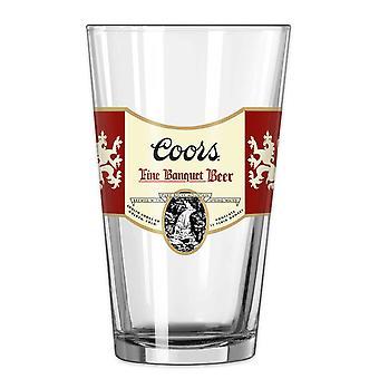 Coors Banquet Pint Glass