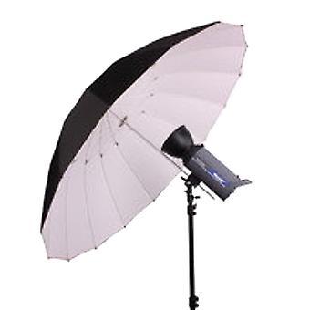 BRESSER SM-14 Jumbo refleks paraply 180 cm sort/hvid