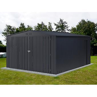 Metalen garage 3,8x4,8x2,32m ProShed®, Antraciet