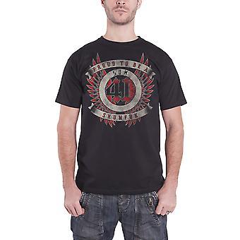 SUM 41 T Shirt Skumfuk band logo new Official Mens Black