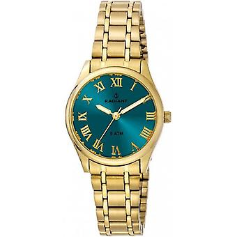 Radiant new divinity Quartz Analog Woman Watch with Stainless Steel Bracelet in RA366204 Gold Plated
