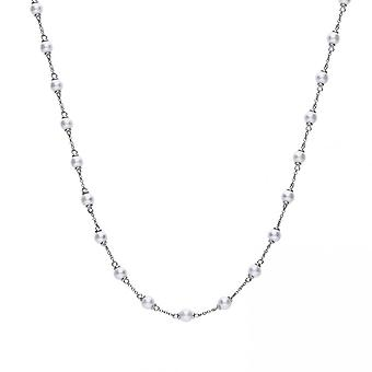 Diamonfire Silver White Zirconia Classical Pearl Necklace N4237