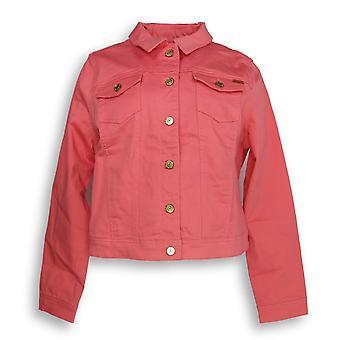 Isaac Mizrahi Live! Kvinner ' s Jean Jacket ekte denim rosa A306370