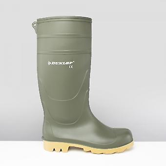 Dunlop Universal mens icke-säkerhet Wellington stövlar grön