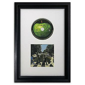 CD Picture Frame Hoxton Black Memorabilia Wall Album Display with a White Mount