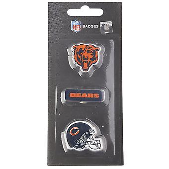 Chicago bjørner NFL PIN Badge PIN sett med 3
