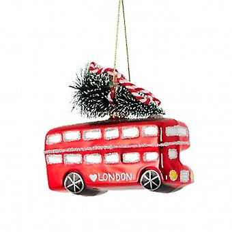 Sass And Belle London Bus Christmas Tree Decoration
